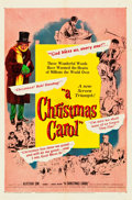 "Movie Posters:Drama, A Christmas Carol (United Artists, 1951). One Sheet (27"" X 41"")& Uncut Pressbook (12 Pages, 11"" X 17"").. ... (Total: 2 Items)"