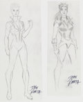 Original Comic Art:Miscellaneous, John Romita, Sr. - Shadowcat Unused Costume Designs Original ArtGroup (Marvel, circa 1980s)....