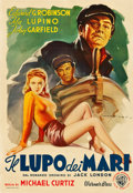 "Movie Posters:Adventure, The Sea Wolf (Warner Brothers, Late 1940s). First Post-War Release Italian Foglio (27"" X 39.5"").. ..."