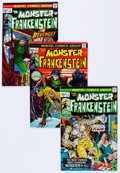 Bronze Age (1970-1979):Horror, Frankenstein Near-Complete Series Group of 24 (Marvel, 1973-75)Condition: Average FN/VF.... (Total: 24 Comic Books)