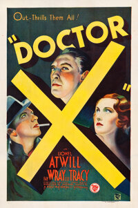 "Doctor X (First National, 1932). One Sheet (27.25"" X 41"")"