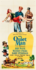 "Movie Posters:Drama, The Quiet Man (Republic, 1952). Three Sheet (41"" X 80"").. ..."