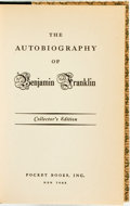 Books:Biography & Memoir, Benjamin Franklin. The Autobiography of Benjamin Franklin.New York: Pocket Books, Inc., [1938]....