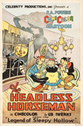"Movie Posters:Comedy, The Headless Horseman (Powers ComiColor, 1934). One Sheet (27"" X41"").. ..."