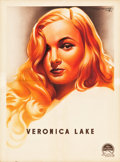 "Movie Posters:Miscellaneous, Veronica Lake Personality Poster (Paramount, 1944). French Affiche(23.5"" X 31.5"").. ..."