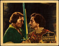 """Movie Posters:Swashbuckler, The Adventures of Robin Hood (Warner Brothers, 1938). Linen Finish Lobby Card (11"""" X 14"""").. ..."""