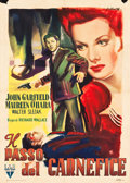 "Movie Posters:Film Noir, The Fallen Sparrow (RKO, Mid-1940s). Italian 2 - Foglio (39"" X55"").. ..."