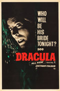 "Movie Posters:Horror, Horror of Dracula (Universal International, 1958). British DoubleCrown (20"" X 30"") Advance.. ..."