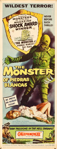 "Movie Posters:Horror, The Monster of Piedras Blancas (Film Service Distributing, 1959).Insert (14"" X 36"").. ..."
