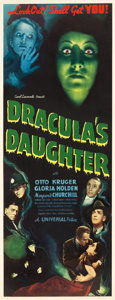 """Movie Posters:Horror, Dracula's Daughter (Universal, 1936). Insert (14"""" X 36"""").. ..."""