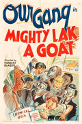 "Movie Posters:Comedy, Our Gang in Mighty Lak a Goat (MGM, 1942). Autographed One Sheet(27"" X 41"").. ..."