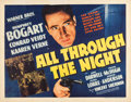 "Movie Posters:Film Noir, All Through the Night (Warner Brothers, 1942). Half Sheet (22"" X28"") Style A.. ..."