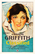 """Movie Posters:Comedy, Classified (First National, 1925). One Sheet (27"""" X 41"""").. ..."""