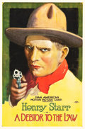 "Movie Posters:Western, A Debtor to the Law (Pan American, 1919). One Sheet (27"" X 40.5"") Portrait Style.. ..."