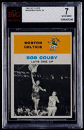 Basketball Cards:Singles (Pre-1970), 1961 Fleer Bob Cousy IA #49 BVG NM 7....