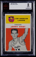 Basketball Cards:Singles (Pre-1970), 1961 Fleer Jerry West #43 BVG NM-MT 8....