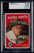 Baseball Cards:Singles (1950-1959), 1959 Topps Mickey Mantle #10 BVG NM+ 7.5....