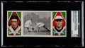 Baseball Cards:Singles (Pre-1930), 1912 T202 Hassan Triple Folder Johnson/Knight Knight Catches a Runner SGC 45 VG+ 3.5....
