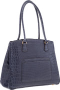 """Luxury Accessories:Bags, Hermes Matte Indigo Nilo Crocodile LA Bag with Gold Hardware.Very Good Condition. 12"""" Width x 9"""" Height x 5""""Depth..."""