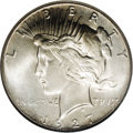 Peace Dollars: , 1927 $1 MS66 NGC. The popular 1927 Peace dollar boasts an originalmintage of only 848,000 pi...