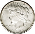 Proof Peace Dollars: , 1921 $1 Matte PR65 NGC. Ex: Jack Lee. The completeness of strike onthis coin should be enoug...