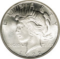 Peace Dollars: , 1922-D $1 MS67 NGC. Peace dollars are not known for quality detail,but this coin is an excep...