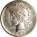 Proof Peace Dollars: , 1921 $1 Satin PR64 NGC. When examining this Peace dollar, the firstthings that are noticed a...