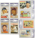 Autographs:Sports Cards, 1950's-60's Mickey Mantle Signed Trading Cards Lot of 8. Vintage cardboard dates to the active duty of this Bronx baseball ...