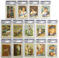 Autographs:Sports Cards, 1959 Fleer Ted Williams Lot of 14, Signed. Fourteen offerings from the popular 1959 set celebrating the remarkable career of...