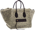 """Luxury Accessories:Bags, Celine Green & Black Wool Phantom Luggage Tote Bag. Excellent Condition. 12"""" Width x 11"""" Height x 10.5"""" Depth. ..."""