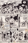 Original Comic Art:Panel Pages, Barry Smith and Sal Buscema Conan the Barbarian #9 Page 3Original Art Panel Page (Marvel, 1971)....