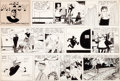 Original Comic Art:Comic Strip Art, Frank Frazetta Ace McCoy Sunday Comic Strip Original Artdated 12-14-52 (McNaught Syndicate, 1952)....