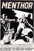 "Original Comic Art:Splash Pages, Steve Ditko and Wally Wood T.H.U.N.D.E.R. Agents #7 ""AMatter of Life and Death"" Splash Page 1 Menthor Original Ar..."
