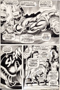 Original Comic Art:Panel Pages, Gene Colan and Johnny Craig Iron Man #1 Page 9 Original Art(Marvel, 1968)....