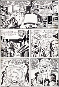 Jack Kirby and Joe Sinnott The Silver Surfer Graphic Novel Page 64 Original Art (Marvel/Simon and Schuster, 1978)