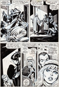 Original Comic Art:Panel Pages, John Romita Sr. and Tony Mortellaro Amazing Spider-Man #109Page 14 Gwen Stacy and Harry Osborn Original Art (Marv...
