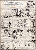 Original Comic Art:Comic Strip Art, Hal Foster Tarzan Sunday Comic Strip Original Art dated 11-6-32 (United Feature Syndicate, 1932)....