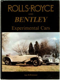 Books:Reference & Bibliography, [Automobiles, Rolls-Royce, Bentley]. Ian W. Rimmer. Rolls-Royceand Bentley Experimental Cars. [Oxfordshire:] ...