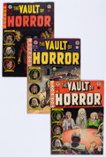 Golden Age (1938-1955):Horror, Vault of Horror #25, 26, and 38 Group (EC, 1952-54) Condition:Average VG/FN.... (Total: 3 Comic Books)