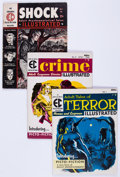 Magazines:Miscellaneous, EC Magazines Group of 3 (EC, 1955).... (Total: 3 Comic Books)