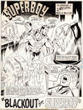 Original Comic Art:Splash Pages, Bob Brown and Wally Wood Superboy #154 Splash Page 1Original Art (DC, 1969)....