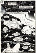 Original Comic Art:Splash Pages, Marshall Rogers and Joe Rubinstein Silver Surfer #7 SplashPage 17 Original Art (Marvel, 1988)....