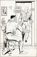 Original Comic Art:Splash Pages, Frank Springer and John Romita Sr. Web of Spider-Man #52Splash Page 29 J. Jonah Jameson Original Art (Marvel, 198...