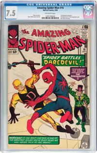 The Amazing Spider-Man #16 (Marvel, 1964) CGC VF- 7.5 Off-white pages