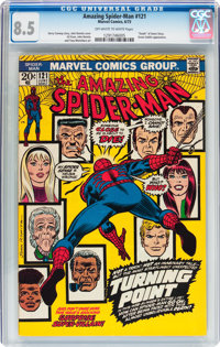 The Amazing Spider-Man #121 (Marvel, 1973) CGC VF+ 8.5 Off-white to white pages