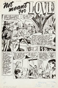 "Original Comic Art:Splash Pages, John Buscema Love Diary #13 ""Not Meant for Love"" Page 1Original Art (Our Publishing Co., 1951)...."