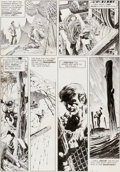 "Original Comic Art:Panel Pages, Bernie Wrightson Eerie #58 ""Pepper Lake Monster"" Page 27Original Art (Warren, 1974)...."