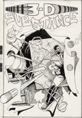 Original Comic Art:Covers, Steve Ditko 3-D Substance #1 Cover Original Art (3-D Zone,1990)....