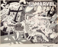 Original Comic Art:Covers, Marshall Rogers and P. Craig Russell Marvel Fanfare #5Wrap-Around Cover Doctor Strange and Clea Original Art (Mar...