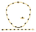 Estate Jewelry:Suites, Black Coral, Gold Jewelry Suite, Bernard Passman. ...